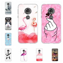 For Motorola Moto E5 Case Soft TPU Silicone For Motorola Moto G6 Play Cover Flamingo Pattern For Motorola Moto E 5th Gen. Coque цена и фото