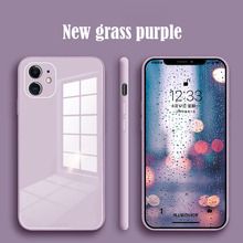 Tempered-Glass-Case Liquid Cell-Phone-Lens-Protection Cove iPhone 11 Silicone 12-Pro