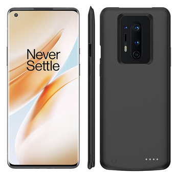 Ultra Silm Silicone Shockproof Power Case For Oneplus 8 Pro External Battery Charger Case Power bank For Oneplus 8 battery Cover 6500mah ultra thin fast charger battery case for samsung note 8 external power bank case for samsung galaxy note 8 charging case