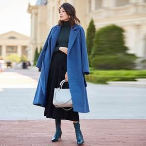 AIGYPTOS Wool Coat Llama Silk Velvet-Light Autumn Long Winter New Temperament And