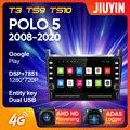 JIUYIN для Volkswagen POLO 5 2008-2020 автомобильный Радио мультимедийный видео плеер навигация GPS Android 10 No 2din 2 din dvd