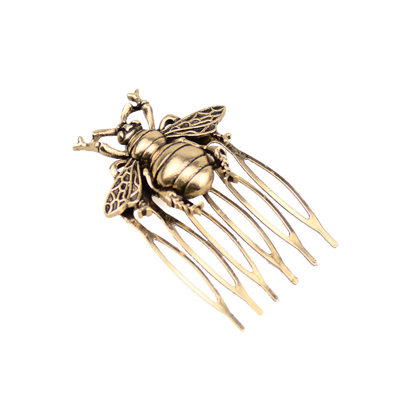 Hot Retro Alloy Comb Bee Hair Comb Ancient Style Hair Clip Hair Accessories Ponytail Holder