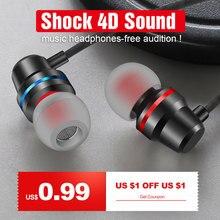 Hisomone In-Ear Earphones Wired Earbuds Headphones 3.5mm wit