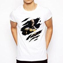 Мужская футболка One punch 2019, крутая Дизайнерская мужская футболка с аниме САЙТАМА сенсей, Повседневная футболка с принтом OK