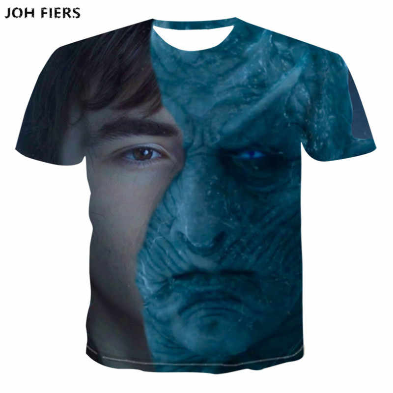JOH FIERS New half face Joker 3d t shirt funny character joker Brand clothing design 3d t-shirt summer style tees tops print