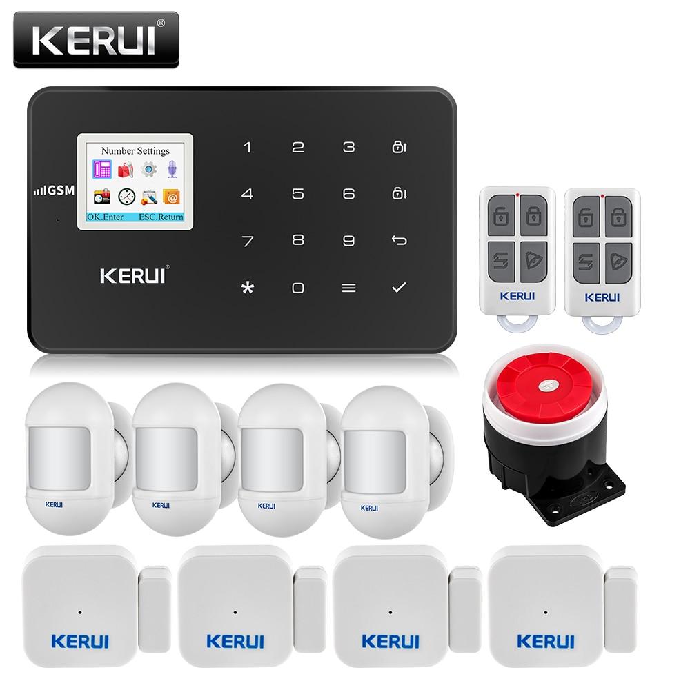 APP Control,KERUI G18 GSM Home Alarm Security System,Motion PIR Detector,Siren