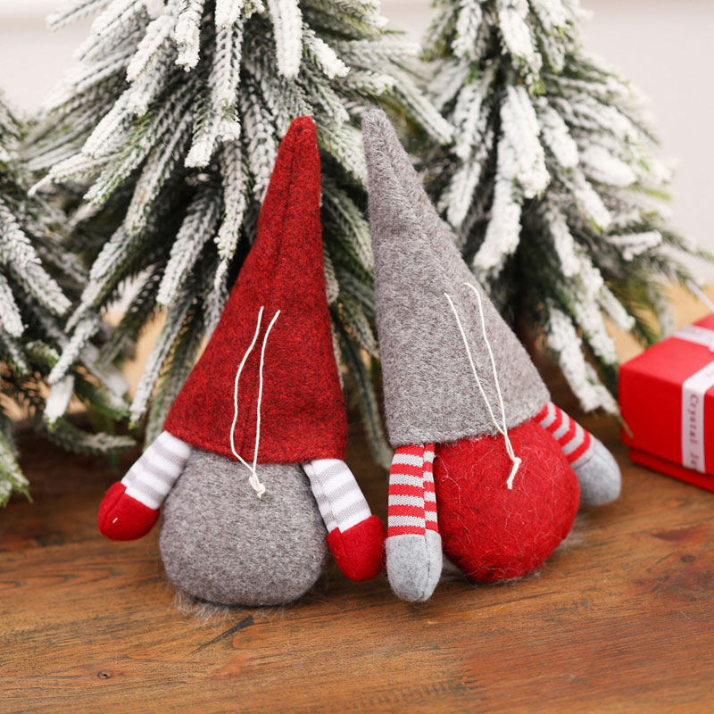 FP ALS/_ Faceless Plush Doll Santa Claus Toy Xmas Tree Hanging Pendant H Details about  /FE FT