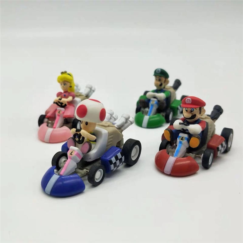 Rare Set 5 Models Super Mario Kart Tomy New Luigi Toad Yoshi Peach Models
