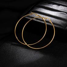 Large stainless steel hoop gold earrings for women silver large fashion 2019