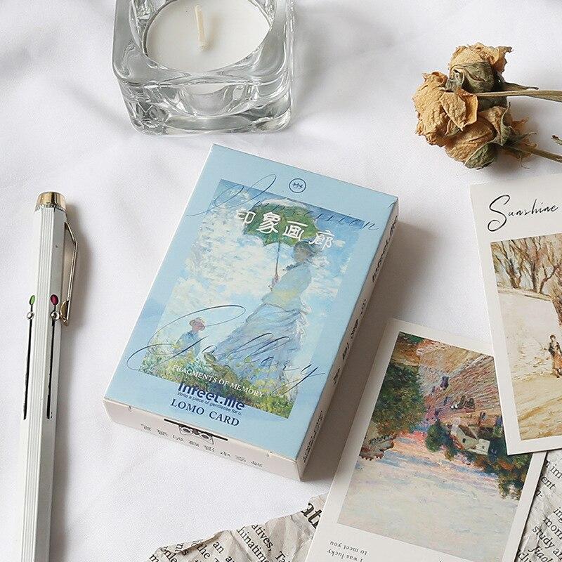 28 Sheets/Set Impression Salon Lomo Card Cartoon Mini Postcard Message Card Christmas Gifts