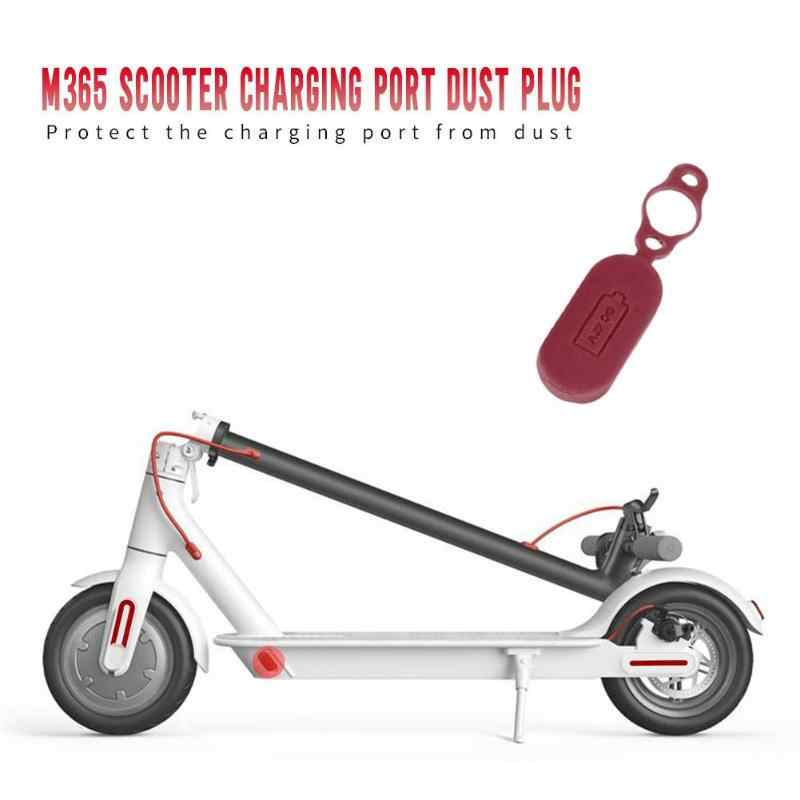 Kauçuk şarj noktası kapağı toz fiş silikon kap bisiklet parçası veya XIAOMI M365 elektrikli Scooter ev elektrikli araç aksesuarları