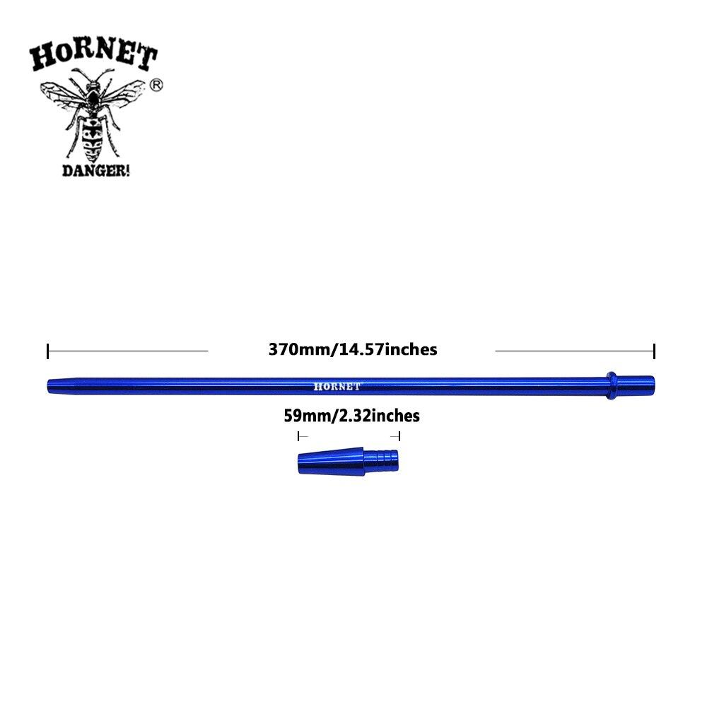 Hornet 1.9m narguilé tuyau 370mm aluminium poignée embouts Shisha narguilé tuyau avec 1.5m Silicone tuyau Pip Shisha narguilé accessoires