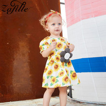 baby girl dress summer children clothing 2017 baby girl clothes cute newborn baby clothes roupas bebe infant kids dresses ZAFILLE Baby Girl Dress Toddler Infant Baby Girl Clothes Sunflower Print Summer Dress 2020 New Kids Children Dress Girl Clothing