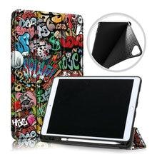 Klapp Smart Fall für Coque iPad 7 Gen 10,2 Folio Fall iPad 10,2 2019 Abdeckung Stift Halter für iPad 7th gen Fall A2200 A2198 A2232