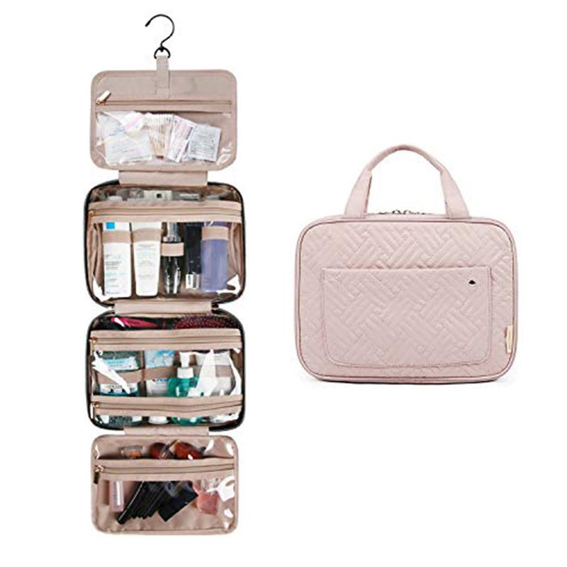 JHD-Travel Toiletry Bag With Hanging Hook Makeup Cosmetic Bag Travel Organizer Portable Bathroom Storage Bag Cosmetic Bag