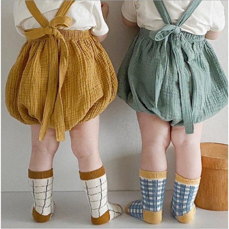 Japan Korean Fashion Baby Boys Girls Shorts Toddler Summer Short Pants Newborns Straps Shorts For Baby Overalls Cotton Bloomers
