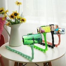 Zk20 dropshipping bonito caterpillar preguiçoso suporte do telefone móvel worm flexível ventosa suporte para casa parede desktop