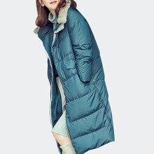 Winter 2019 New Fashion Ladies Long Cotton Padded Jackets Loose Oversize Bread Down Jackets Female Street Wear Thick Warm Coats цены онлайн