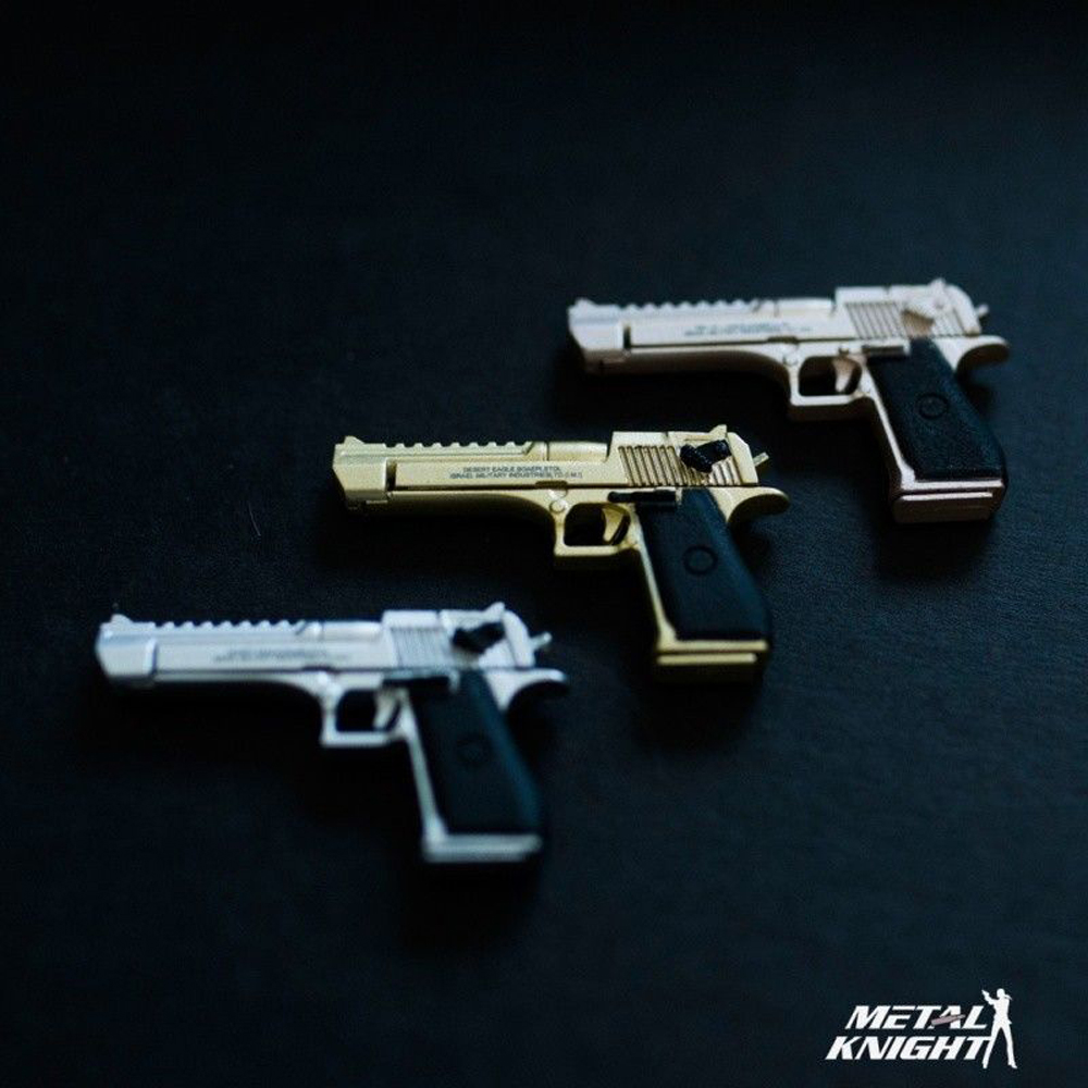 1/6 Alloy Pistol Model Desert Eagle Handgun Weapon Accessories 3 Color Golden/Rose Golden/Silver for 12'' Soider Action Figure image