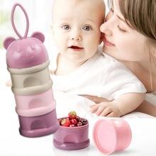 3 слоя Pp+ силиконовый контейнер для хранения детского питания, коробка для закусок, коробки для молока, контейнер для молока для малышей, портативная коробка для еды для кормления ребенка
