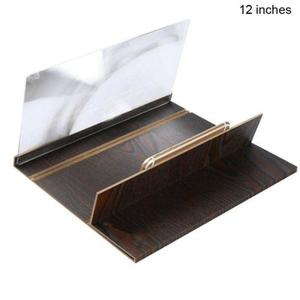 Image 4 - 12 inch Folding 3d phone magnifier screen With Wood Frame HD Video Magnifying Glass Bracket Stand tablet holder eye protection