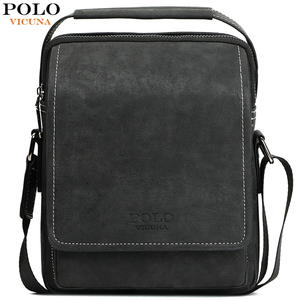 Image 1 - VICUNA POLO Vintage Frosted Leather Men Crossbody Bag With Handle Durable Fashion Business Man Bag Sling Shoulder Bags Handbag