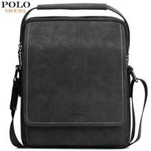 VICUNA POLO Vintage Retro nobuck cuero Crossbody bolsas para hombres Durable eslinga esmerilada bolsos de mensajero bolso de negocios para hombres