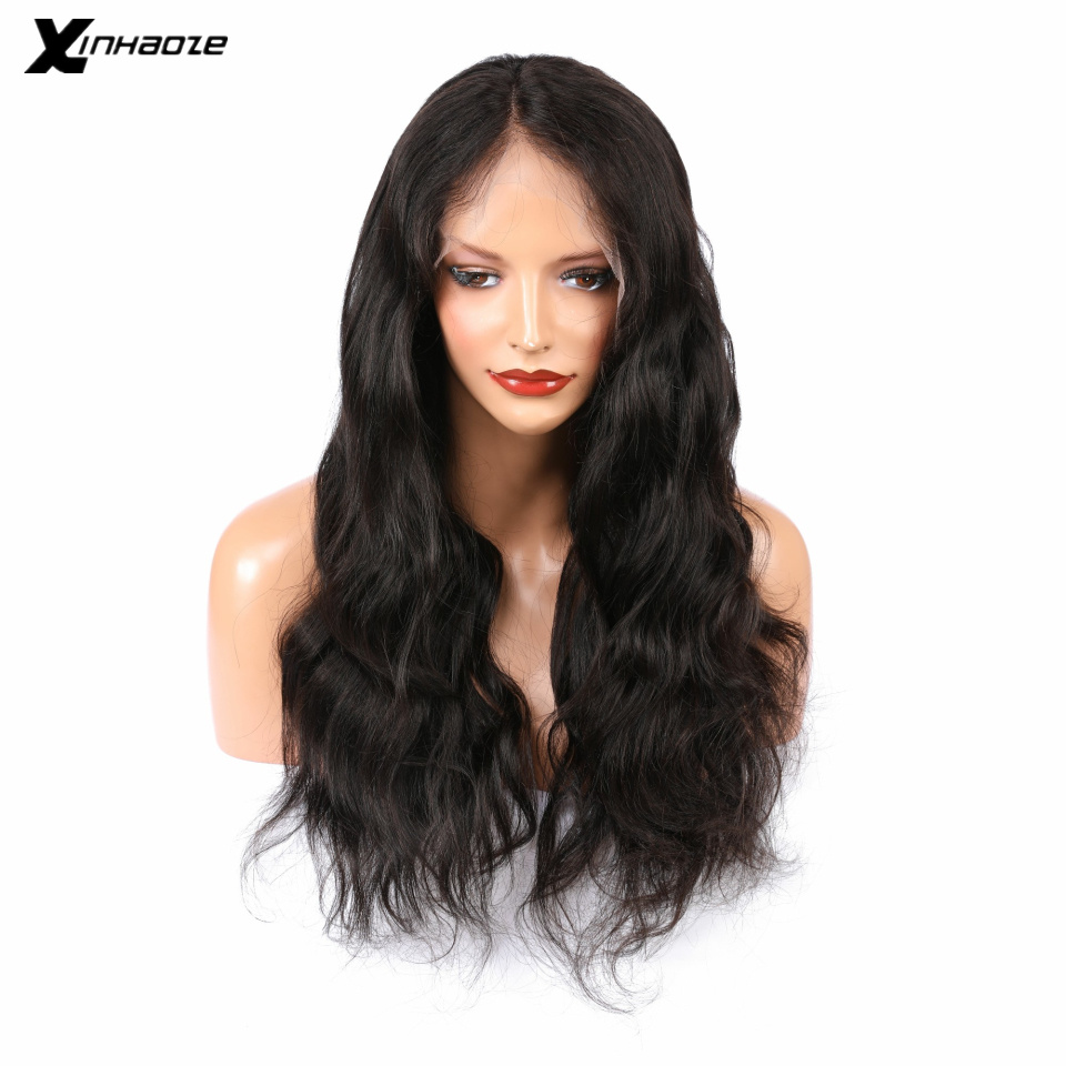 XINHAOZE Brazilian Lace Front 13x4 Human Hair Bleacked Knots Water Wave With Baby Hair For Women