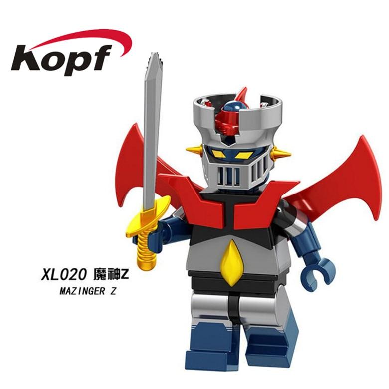 Super Heroes Single Sale Figures Mazinger Z Action Iron Man 28 FX Bricks Building Blocks Christmas Gift Toys For Children XL020