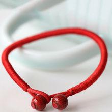 1 sztuk moda kobiety i mężczyźni szczęście ceramiczne bransoletki koralik bransoletka z czerwonego sznurka dla kobiet biżuteria szczęścia tanie tanio ILOVEDIY Wrap bransoletki Unisex Brak TRENDY Łańcuch liny ROUND Lace-up Does not apply Fashion Casual Ceramics 17-18cm