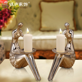 Creative Romantic Candle Holders Modern Classic Lantern Wedding Table Centerpieces Candlesticks Gold Decoration Home 2020 II50ZT