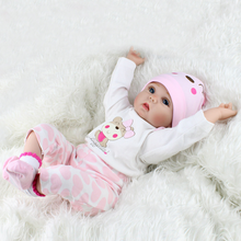 Reborn Baby Dolls 22 Inches Soft Simulation Silicone Vinyl Vivid Boy Girl Toy Handmade Full Bebes Doll