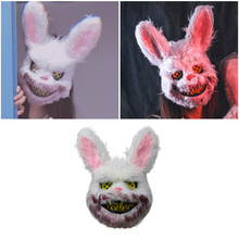 Bloody Teddy Bear Mask Masquerade Scary Plush Mask Halloween Performance Props Halloween Supplies Scary Wild Wolf Mask Rabbit