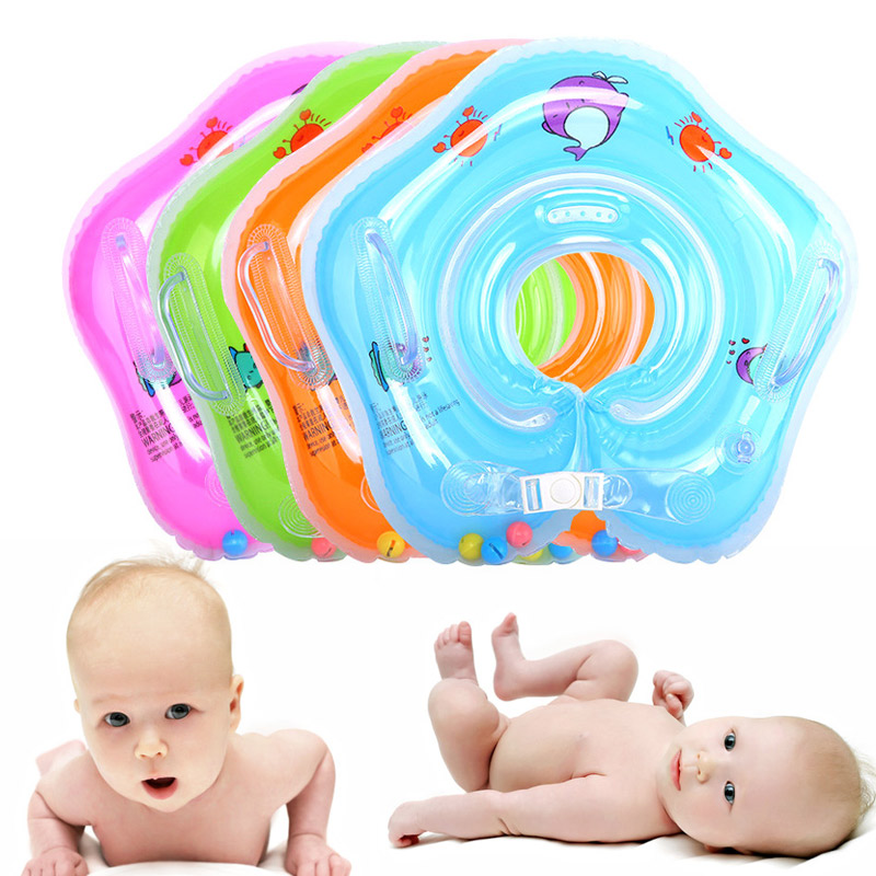 Baby Swimming Rings Double-decked Safety Floating PVC Inflatable Pool Float With Handle B2Cshop