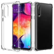 Silikon Case untuk Samsung Galaxy A50 A10 A20 A30 A40 A70 A60 A40s A30s A20s Transparan Shockproof TPU Soft Cover fundas Coque(China)