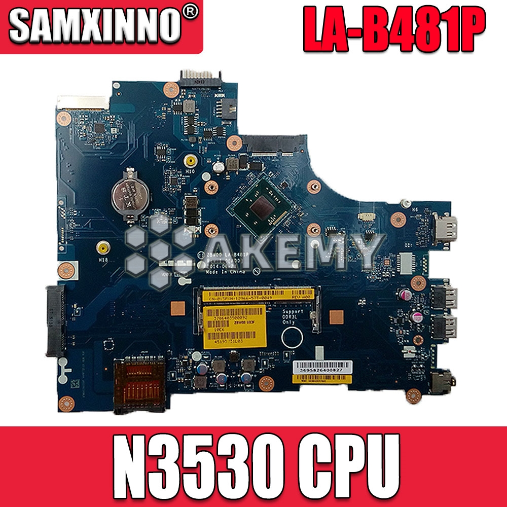 Laptop motherboard for <font><b>DELL</b></font> <font><b>Inspiron</b></font> <font><b>15</b></font> <font><b>3531</b></font> PC Mainboard N3530 CPU 0Y3PXH LA-B481P full tesed DDR3 image