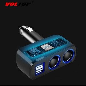 Image 5 - Voltop 1 포인트 2 듀얼 usb 차량용 충전기 자동차 장식품 액세서리 전화 충전 시가 라이터