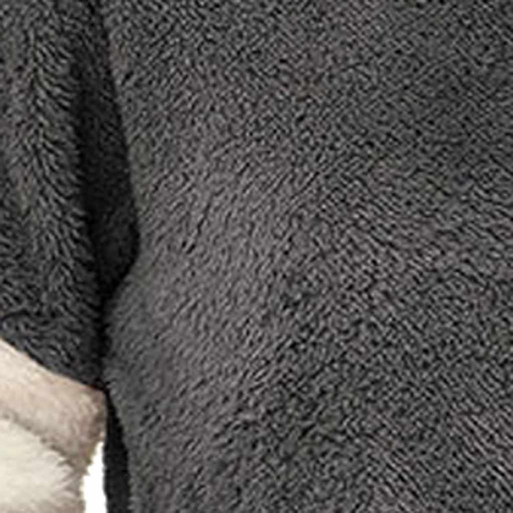 Ücretsiz devekuşu kadın kazak sonbahar kış uzun kollu yuvarlak boyun çizgili dikiş kazak casual katı renk peluş sıcak kazak