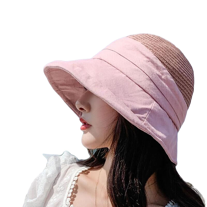 New Fashion  2020 Visor-Hat  Adjustable Outdoor Beach Women Solid Color High-Quality Sunhat