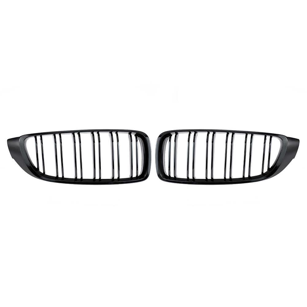 Negro brillante frente riñón rejilla doble listón M4 deporte estilo parrilla para BMW F32 F33 F36 F82 cupé cabriolé