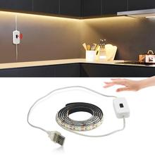 Hand Sweep Switch USB LED Strip Light Kitchen TV Backlight DC5V Powered LED Tape for reading study Table Lamps Bookcase Decor cheap AIMENGTE CN(Origin) Book Lights 1 Year none LED Bulbs usb light strip with hand sensor hand sweep switch light ROHS