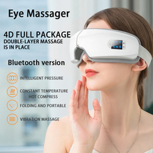 4D الذكية وسادة هوائية الاهتزاز العين مدلك العين العناية أداة الساخن ضغط بلوتوث العين التعب تدليك نظارات