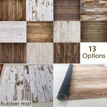 Rubber Floor Background Wood Floor Photo Anti-Slip Printed Vintage Wooden Newborn Backdrop Anti-slip Customize Rubber Mat