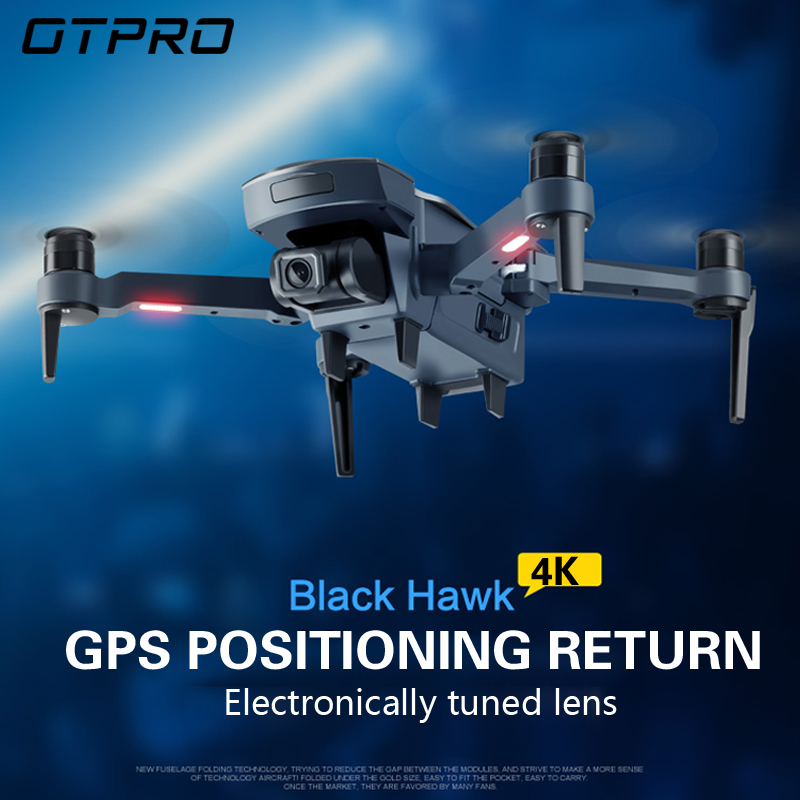 OTPRO Mini Drone GPS 4K 1080P Camera Follow Me Quadcopter Auto Return FPV Dron Wifi Ufo Helicopter Toys VS F11 RPO H117S X9 K1