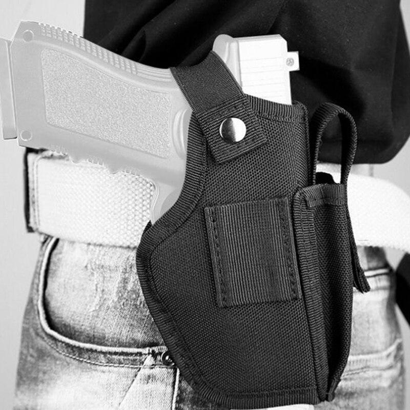 Funda de pistola táctica de nailon para caza al aire libre, táctica de mano izquierda y derecha, combinación Universal Glock 17 19 USP, funda para herramientas