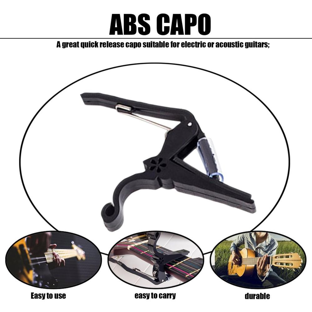 Купить с кэшбэком 2019 Portable Size Aluminum Alloy Guitar Tuner Clamp Professional Key Trigger Capo for Acoustic Electric Musical Instruments