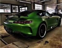 AMG GT With Lamp Real Carbon Fiber Car Rear Wing Trunk Lip Spoilers For Mercedes Benz AMG GT GTS GTR 2015 2016 2017 2018