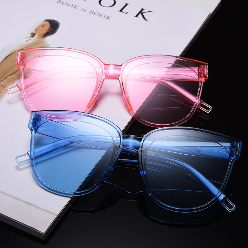 Vintage Oversize Square Sunglasses Luxury Brand Black Pink Big Frame Cat Eye Sun Glasses Female Shades Coulos