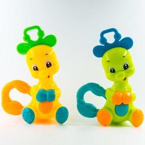 Image 3 - 1pc Elephant Deer Baby Rattles Kids Educational Toys for Children Newborns Mobile Boys Girls Crib Stroller Stuffs Safety Plastic