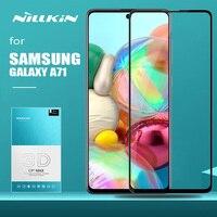 Para samsung galaxy a71 vidro nillkin 3d cp + max cobertura completa de segurança protetor de tela de vidro temperado para samsung galaxy a71 vidro